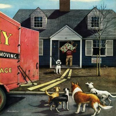 """New Dog in Town"", March 21, 1953 by Stevan Dohanos"