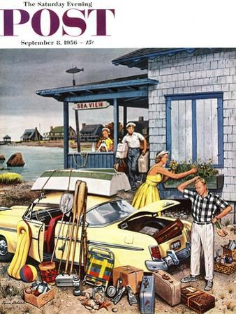 """Packing the Car"" Saturday Evening Post Cover, September 8, 1956 by Stevan Dohanos"