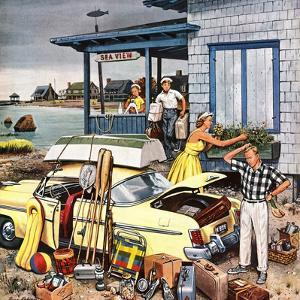 """Packing the Car"", September 8, 1956 by Stevan Dohanos"