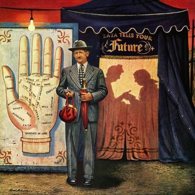 """Palmist"", June 10, 1950 by Stevan Dohanos"