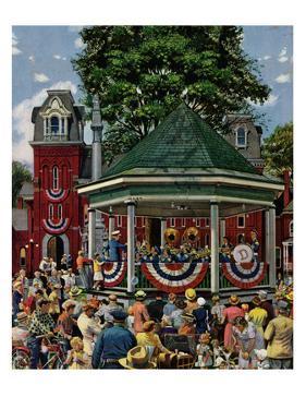 """Patriotic Band Concert"", July 7, 1951 by Stevan Dohanos"
