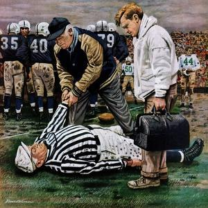 """Ref Out Cold"", November 25, 1950 by Stevan Dohanos"