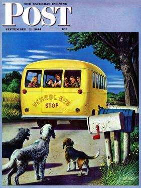"""School Bus,"" Saturday Evening Post Cover, September 2, 1944 by Stevan Dohanos"
