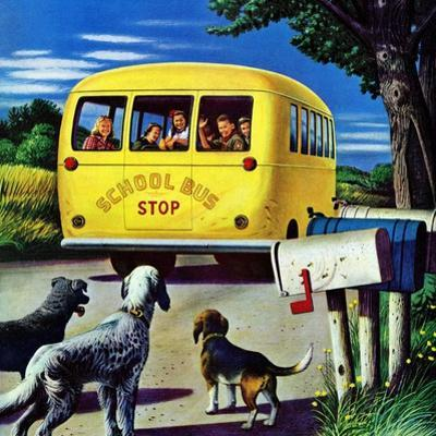 """School Bus,"" September 2, 1944 by Stevan Dohanos"