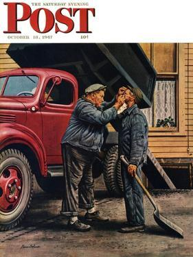 """""""Speck of Coal,"""" Saturday Evening Post Cover, October 18, 1947 by Stevan Dohanos"""