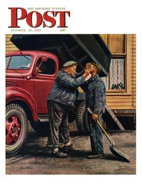 """Speck of Coal,"" Saturday Evening Post Cover, October 18, 1947 by Stevan Dohanos"