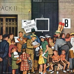 """Track 11,"" June 21, 1947 by Stevan Dohanos"