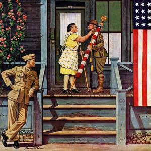 """""""Two Generations of Vets,"""" July 5, 1947 by Stevan Dohanos"""
