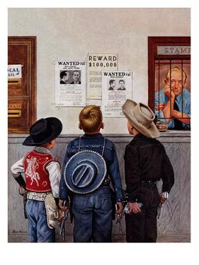 """""""Wanted Posters"""", February 21, 1953 by Stevan Dohanos"""