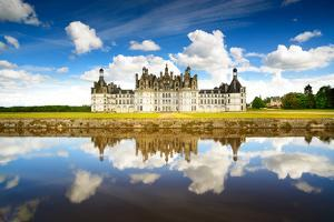 Chateau De Chambord, Unesco Medieval French Castle and Reflection. Loire, France by stevanzz