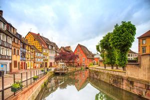 Colmar, Petit Venice, Water Canal and Traditional Houses. Alsace, France. by stevanzz