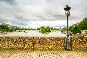 Love Padlocks on Pont Des Arts Bridge, Seine River in Paris, France. by stevanzz