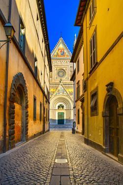 Orvieto Medieval Duomo Cathedral Church Facade. Italy by stevanzz
