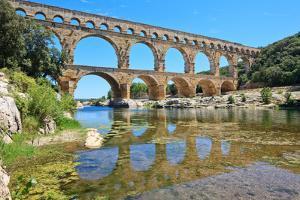 Roman Aqueduct Pont Du Gard, Languedoc, France. Unesco Site. by stevanzz