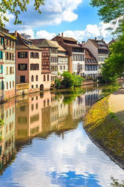 Strasbourg, Water Canal in Petite France Area, Unesco Site. Alsace. by stevanzz