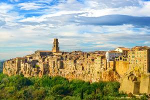 Tuscany, Pitigliano Medieval Village Panorama Landscape. Italy by stevanzz