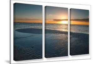 Sanibel Sunrise Ii, 3 Piece Gallery-Wrapped Canvas Set by Steve Ainsworth