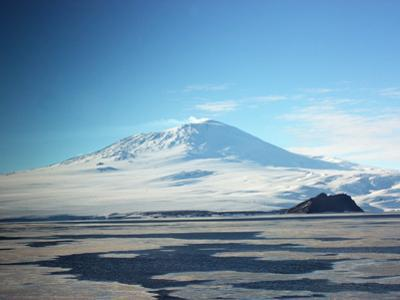 Eruption of Steam, Ash and Smoke from Mount Erebus