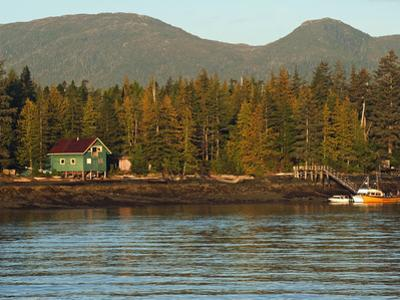 Fishing Boat and Cottage on the Shores of East Tongass Narrows