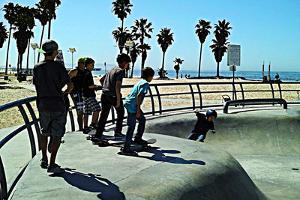 Boys at Skate Park by Steve Ash
