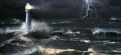 Lightning at the Lighthouse by Steve Bloom