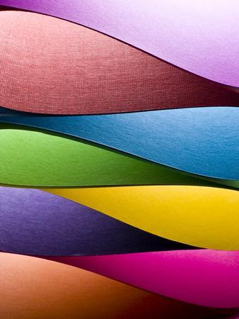 Colored Paper Background Stacked in Wedges