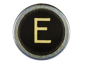 Vintage Typewriter Letter E Isolated On White by Steve Collender