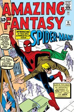 Amazing Fantasy No.15 Cover: Spider-Man Swinging by Steve Ditko