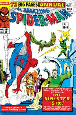 Amazing Spider-Man Annual No.1 Cover: Spider-Man by Steve Ditko