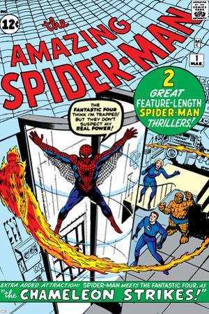 Amazing Spider-Man No.1 Cover: Spider-Man by Steve Ditko