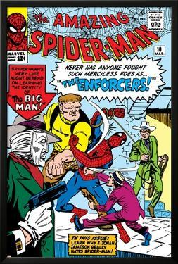 Amazing Spider-Man No.10 Cover: Spider-Man by Steve Ditko