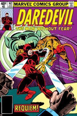 Daredevil No.162 Cover: Daredevil Fighting by Steve Ditko