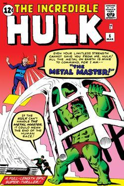 The Incredible Hulk No.6 Cover: Hulk and Metal Master Fighting by Steve Ditko