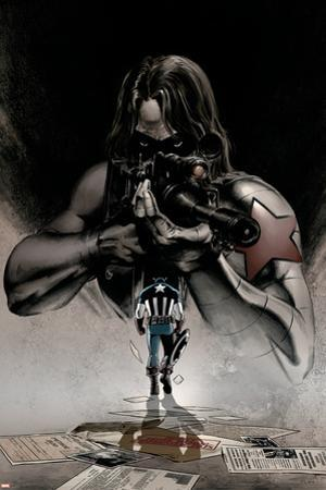 Captain America No.12 Cover: Winter Soldier and Captain America by Steve Epting