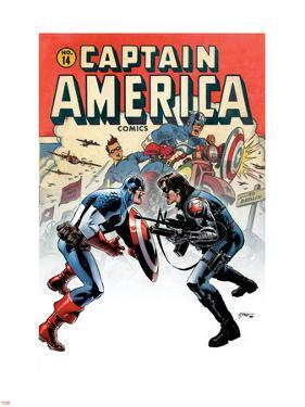 Captain America No.14 Cover: Captain America and Bucky by Steve Epting