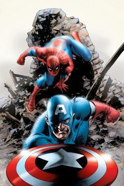 Spectacular Spider-Man No.15 Cover: Captain America and Spider-Man by Steve Epting