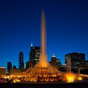 Buckingham Fountain Nightlight Chicago by Steve Gadomski