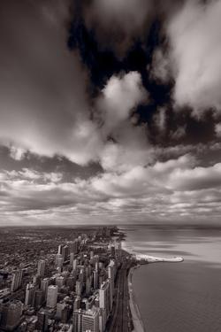 Chicago Aloft BW by Steve Gadomski