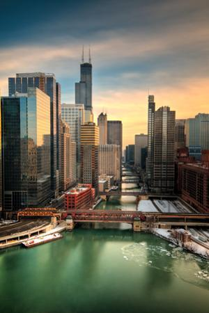 Chicago City View Afternoon by Steve Gadomski