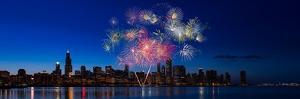 Chicago Lakefront Fireworks by Steve Gadomski