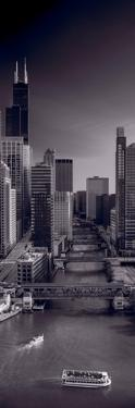 Chicago River Bridges South BW by Steve Gadomski
