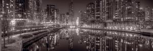 Chicago River East BW by Steve Gadomski