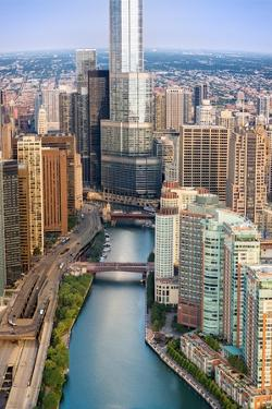 Chicago River Sunrise by Steve Gadomski