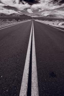 Desert Road Trip BW by Steve Gadomski