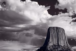 Devils Tower Wyoming BW by Steve Gadomski