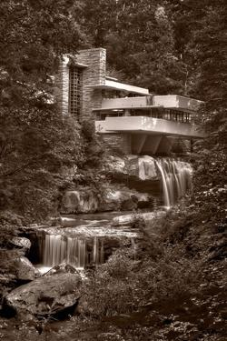 Falling Water View BW by Steve Gadomski