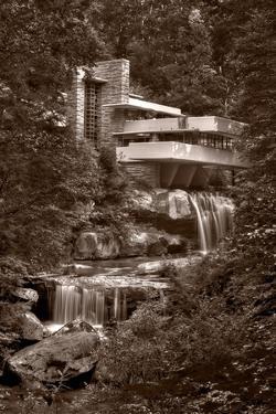 Falling Water View BW by Steve Gadomski