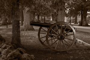 Gettysburg Cannon B W by Steve Gadomski