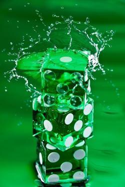 Green Dice Splash by Steve Gadomski