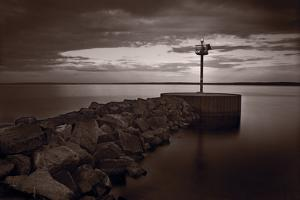 Harbor Light Bayfield Wisconsin by Steve Gadomski